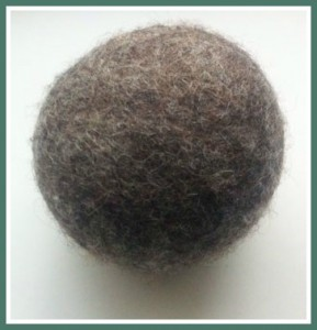 Grey Wool Dryer Ball