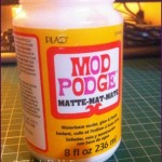 Trusty Mod Podge for gluing and sealing