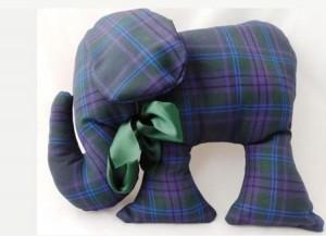 Handmade Tartan Elephant